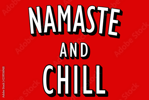 Photo Namaste and Chill poster