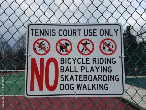 Fotografie, Obraz  tennis court sign