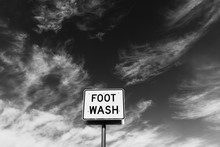 FOOT WASH Sign At Roadside Res...