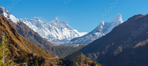 Everest, Lhotse and Ama Dablam summits. Wallpaper Mural