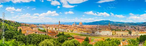 Keuken foto achterwand Blauwe hemel Florence panoramic landscape