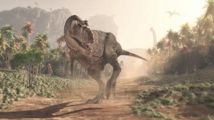 Tyrannosaurus Rex in the ju...