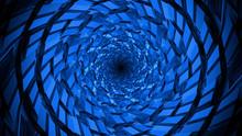 Modern Blue Vortex Tunnel Background With Texture
