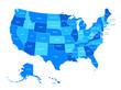 Blank similar USA map isolated on white background. United State