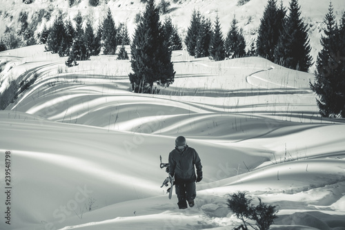 Backcountry adventure to winter Alps