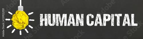 Leinwand Poster Human Capital