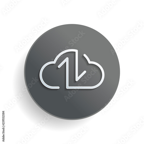Data cloud icon  Backup, restore  Upload, download  Up and