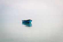 Blue Boat On The Sea In Koh Ro...