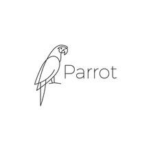Parrot Logo Bird Vector Illust...