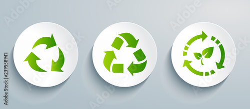 Fotografie, Obraz  Recycling icon set