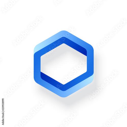 Fototapeta premium Niemożliwy kształt. Złudzenie optyczne. Element projektu sieci Web. Projekt linii. Ilustracja wektorowa Eps 10