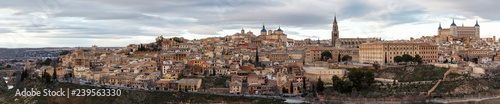 panoramic view of the city of Toledo, Castilla la mancha, Spain