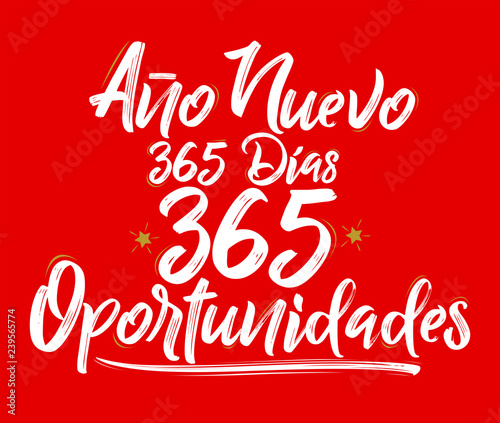 Fotografering  Ano Nuevo 365 Dias, 365 Oportunidades, New Year 365 Days, 365 Opportunities span