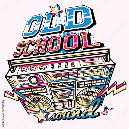 Old school sound - decorative music design - Buy this stock