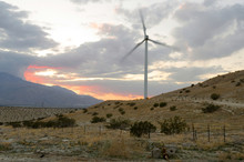 Wind Turbine In The Evening