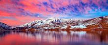 Vivid Red Sunrise Panorama In ...