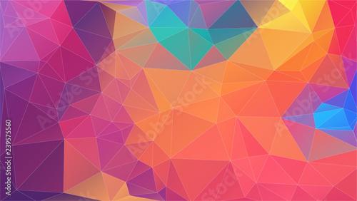 Flat multicolor triangle geometric wallpaper