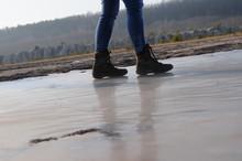 Eisfläche Schlittschuhe Laufen Spaziergang Schlittern Winter