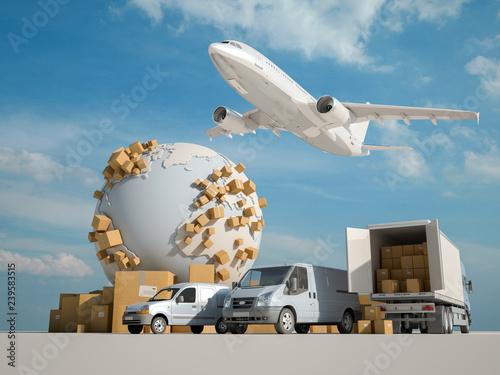 global logistics Wallpaper Mural