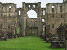 Ruins Of Rievaulx Abbey In Hel...