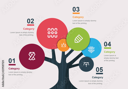 tree infographic layout buy this stock template and. Black Bedroom Furniture Sets. Home Design Ideas