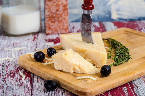 cheese with cheese knife