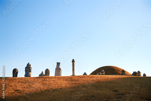 Uireung Royal Tombs of the Joseon Dynasty located in Seoul, Korea Canvas Print