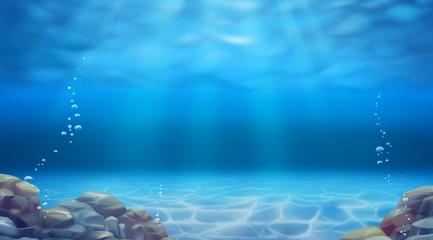 Underwater landscape. Reali...