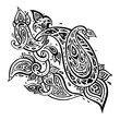 Paisley. Ethnic ornament. Vector illustration isolated. Hand Drawn old fashioned pattern
