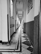 Black And White Hallway In Cuba