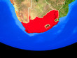 canvas print picture - South Africa from space on model of planet Earth with country borders.