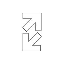 Open Arrows Icon. Element Of W...