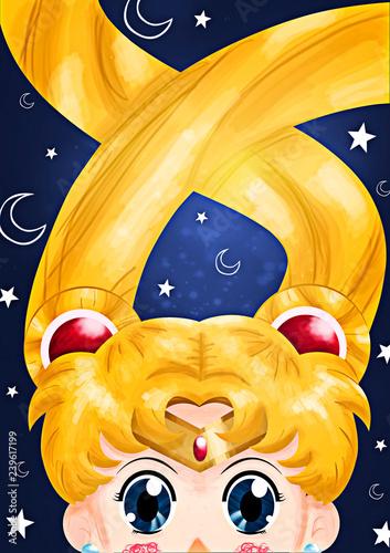 Fotografie, Obraz  Sailor Moon Wallpaper