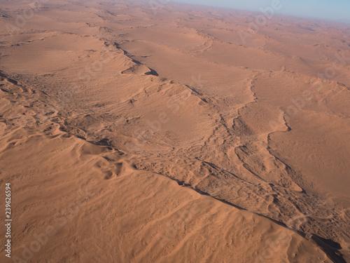 Poster de jardin Desert de sable Aerial views over Namib Desert and Swakopmund, Namibia