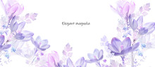 Elegant Watercolor Magnolia Fl...
