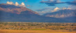 canvas print picture - Utah Valley landscape with town mountain and sky