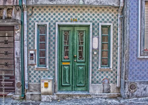 Fotografie, Obraz  Door With Metal Design, Aveiro, Portugal