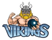 A Viking Warrior Gladiator Bowling Sports Mascot