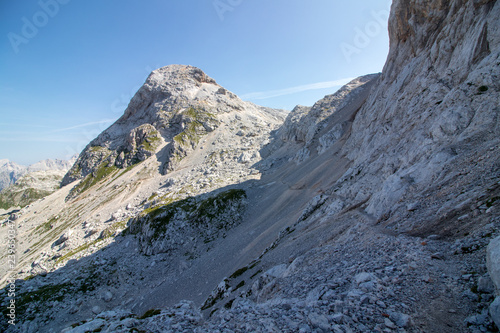 mountain path high in mountains Wallpaper Mural