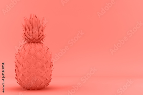 Fotografía  Painted Pinapple trend living Coral color