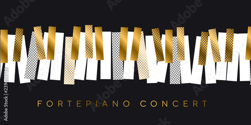 Fotografía  Abstract gold and black invitation for music concert