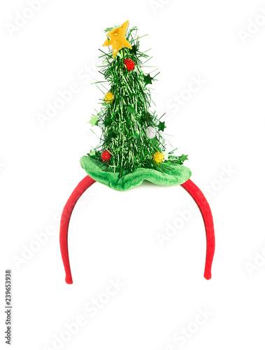Christmas tree headband isolated on white background. Fototapeta