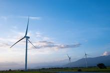 Wind Turbine Farm Or Windmill ...