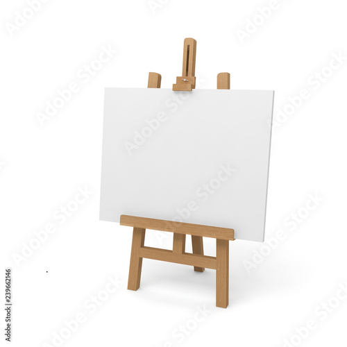 Photographie easel canvas blank white 3D