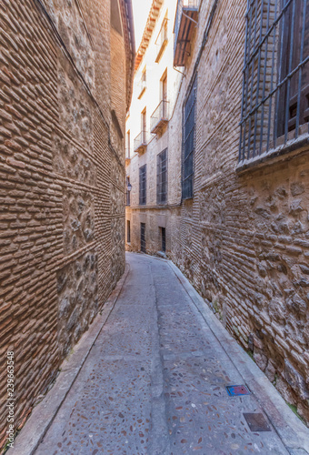 Fotobehang Marokko Toledo, Spain - a Unesco World Heritage Site, Toledo is a medium size city cultural influences of Christians, Muslims and Jews, and narrow alleys that leads to churches and mosques
