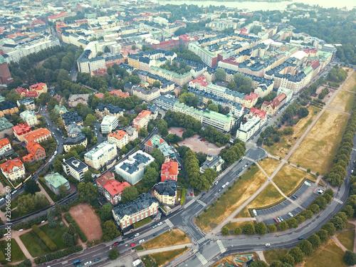 Fototapeta 港湾都市ヘルシンキの朝景 obraz na płótnie