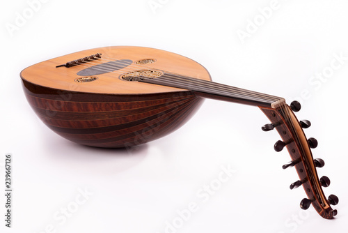 Photo Ud musical instrument instrument in white background