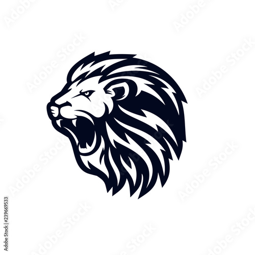 Fototapety, obrazy: Roaring lion logo template design