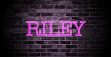 First Name Riley In Pink Neon ...