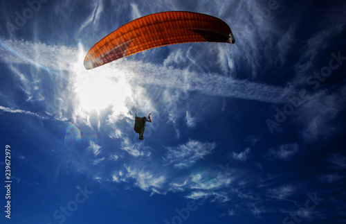 Garden Poster Sky sports Paragliding on the sky
